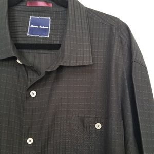Tommy Bahama mens black button down 3XL